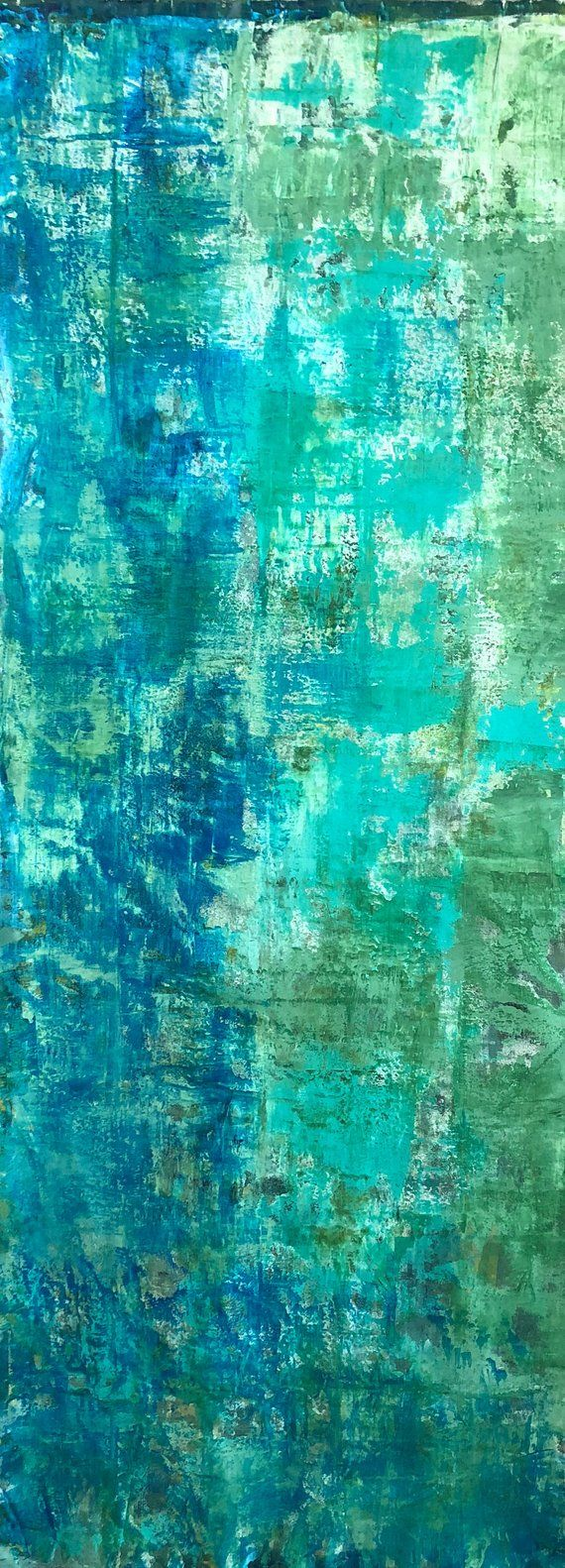 Turquoise abstract study no abstract canvas painting large wall