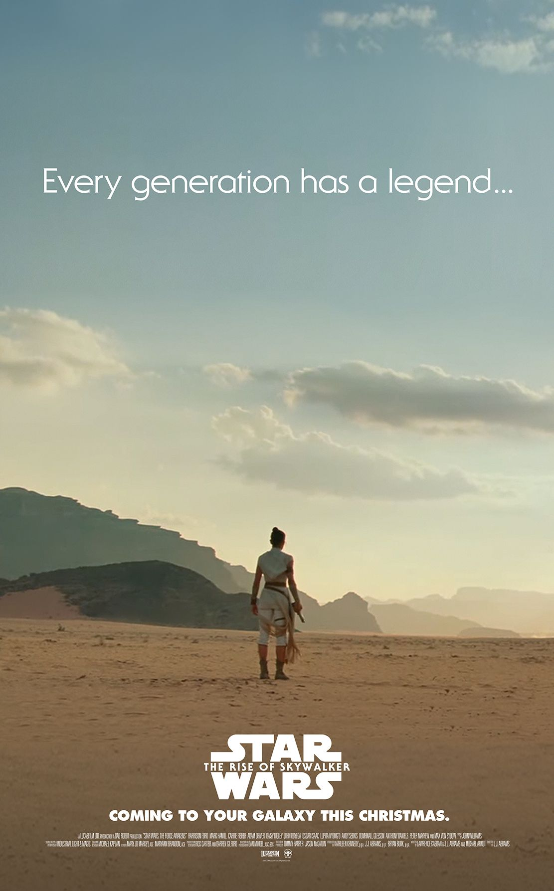 Star Wars The Rise Of Skywalker Every Generation Has A Legend Fan Made Minimal Teaser Poster Rey Star Wars Star Wars Images Star Wars Characters