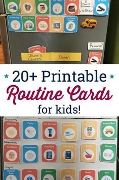 These Routine Cards Parenting Tips Daily Schedule Kids
