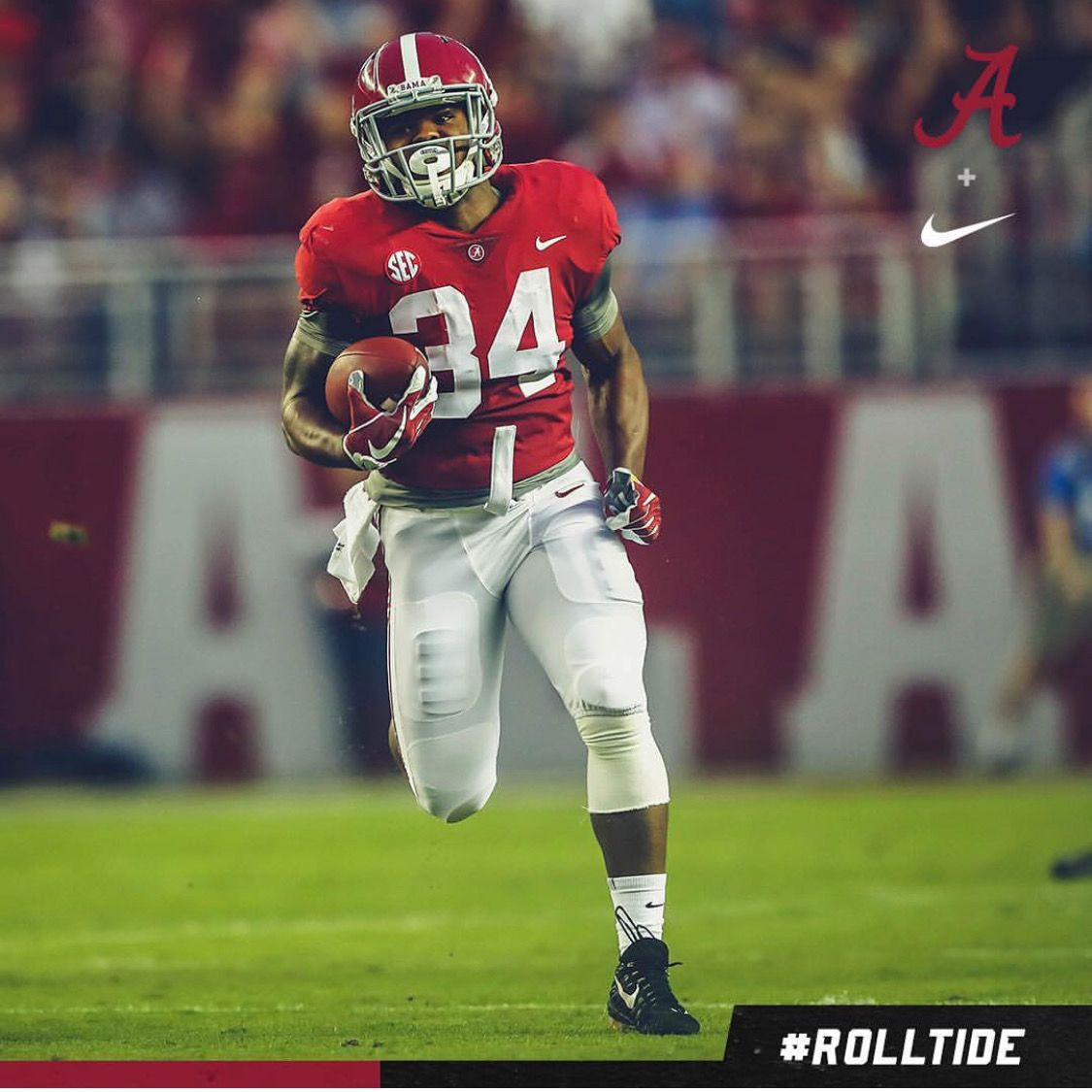 Damien Harris Alabama 41 Arkansas 9 Graphic Via Alabamafbl On Instagram Alabama Rolltid Alabama Crimson Tide Football Crimson Tide Football Bama Football