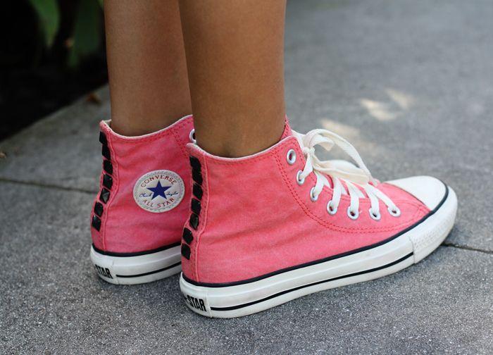 Shoes Converse Diy Chaussure Converse Rose Chaussures Mignonne