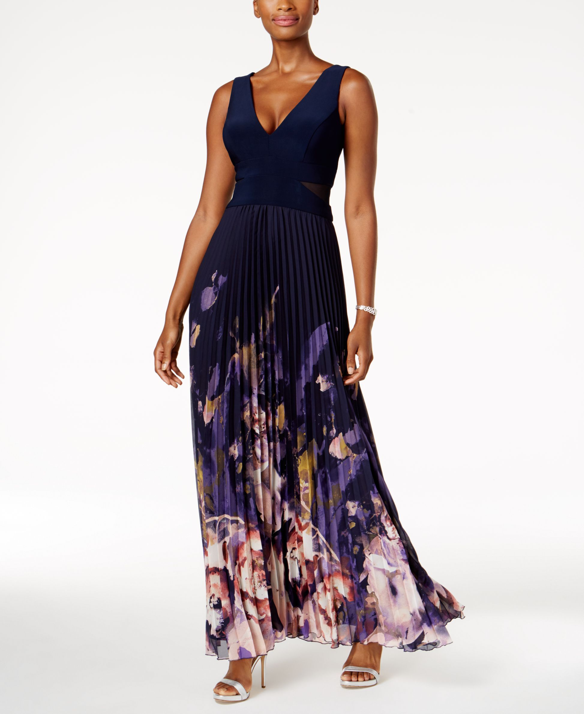 Xscape petite printed chiffon pleated gown products pinterest