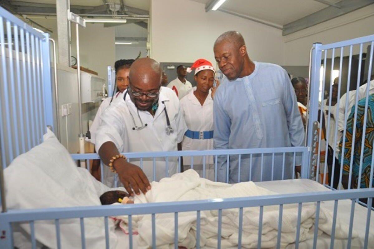 Veep Celebrates Christmas With Patients of Shai Osudoku District Hospital