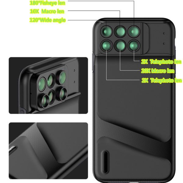 6 Functional Lens In One Case Cover For iPhone XS XR Max