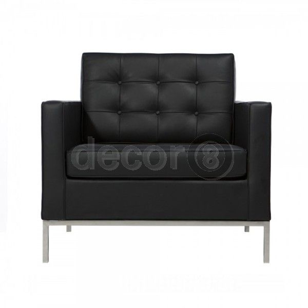 Decor8 Modern Furniture Florence Leather Lounge Chair Single Seater Sofa Leather Lounge Chair Leathe Sofa Bed Decor Single Seater Sofa Single Sofa Bed Chair