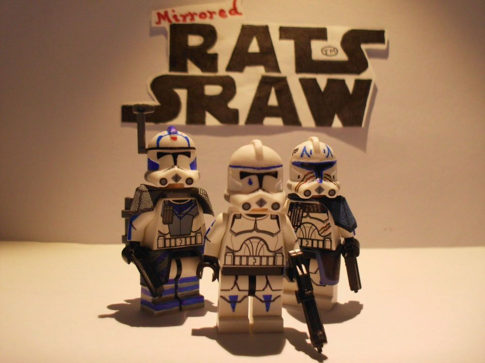 Lego Star Wars minifigures - Clone Custom ARC 5s, Tpr Tup & Captain ...