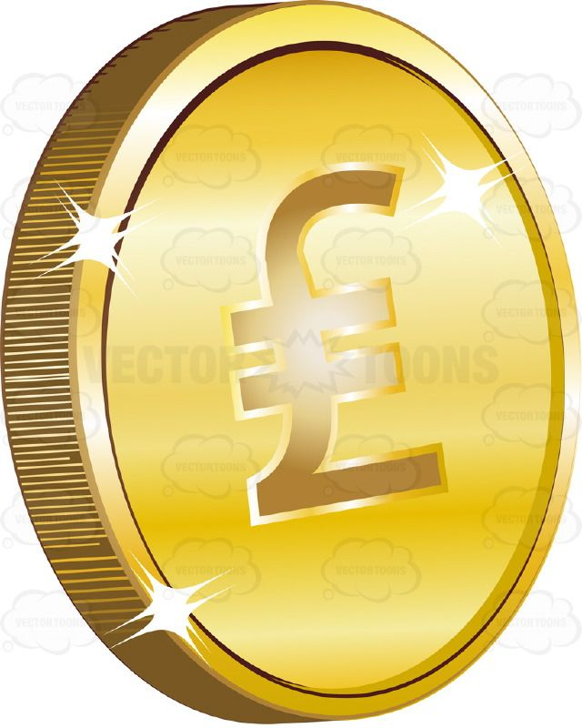 Old British Sterling Pound Sign With Two Lines Or Italian Lira Sign