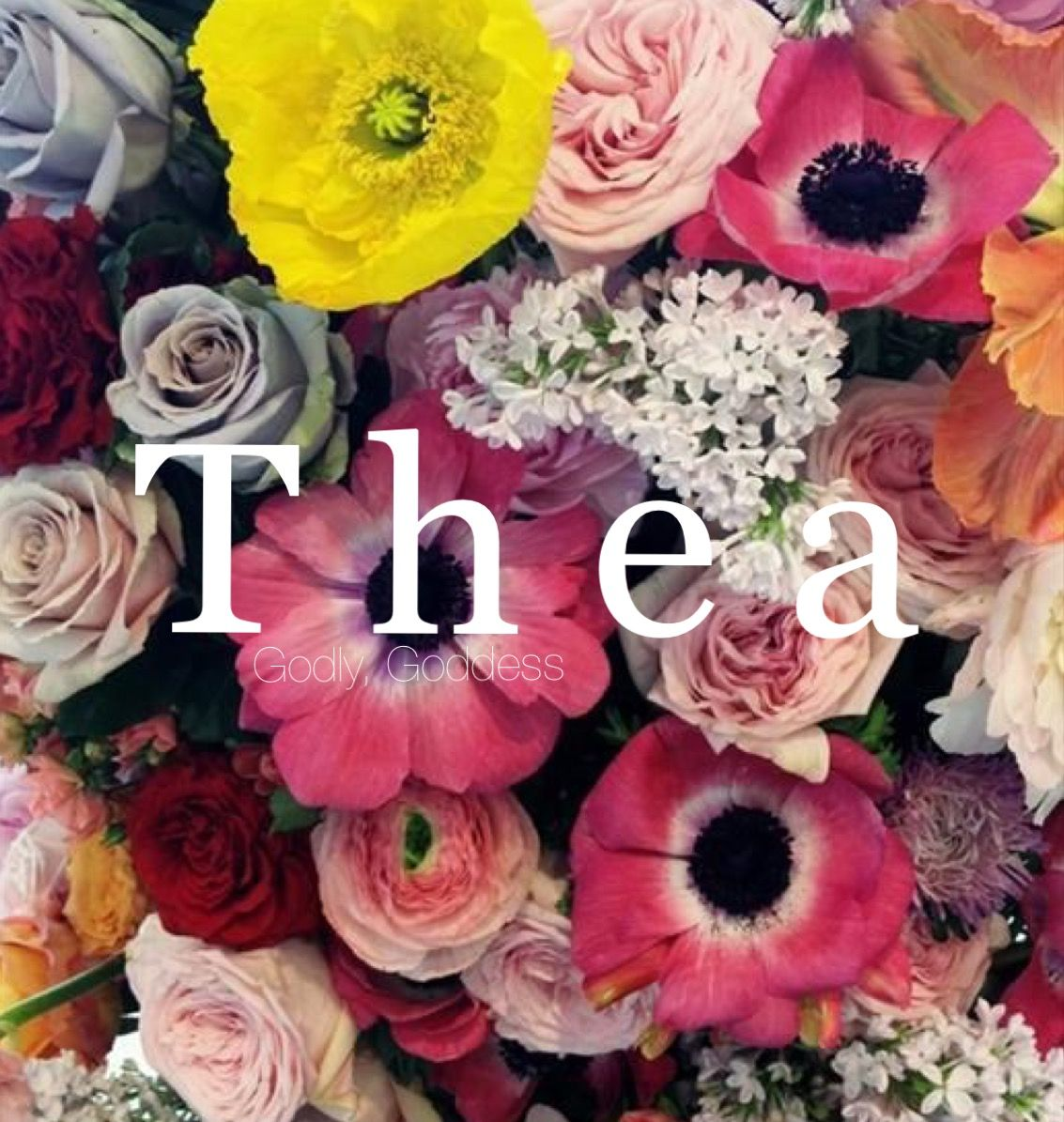 Thea Girl Baby Names Female Names Baby Names Middle Names Short