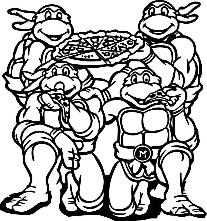 Printable Ninja Turtle Coloring Pages Ninja Turtle Halloween Gambar