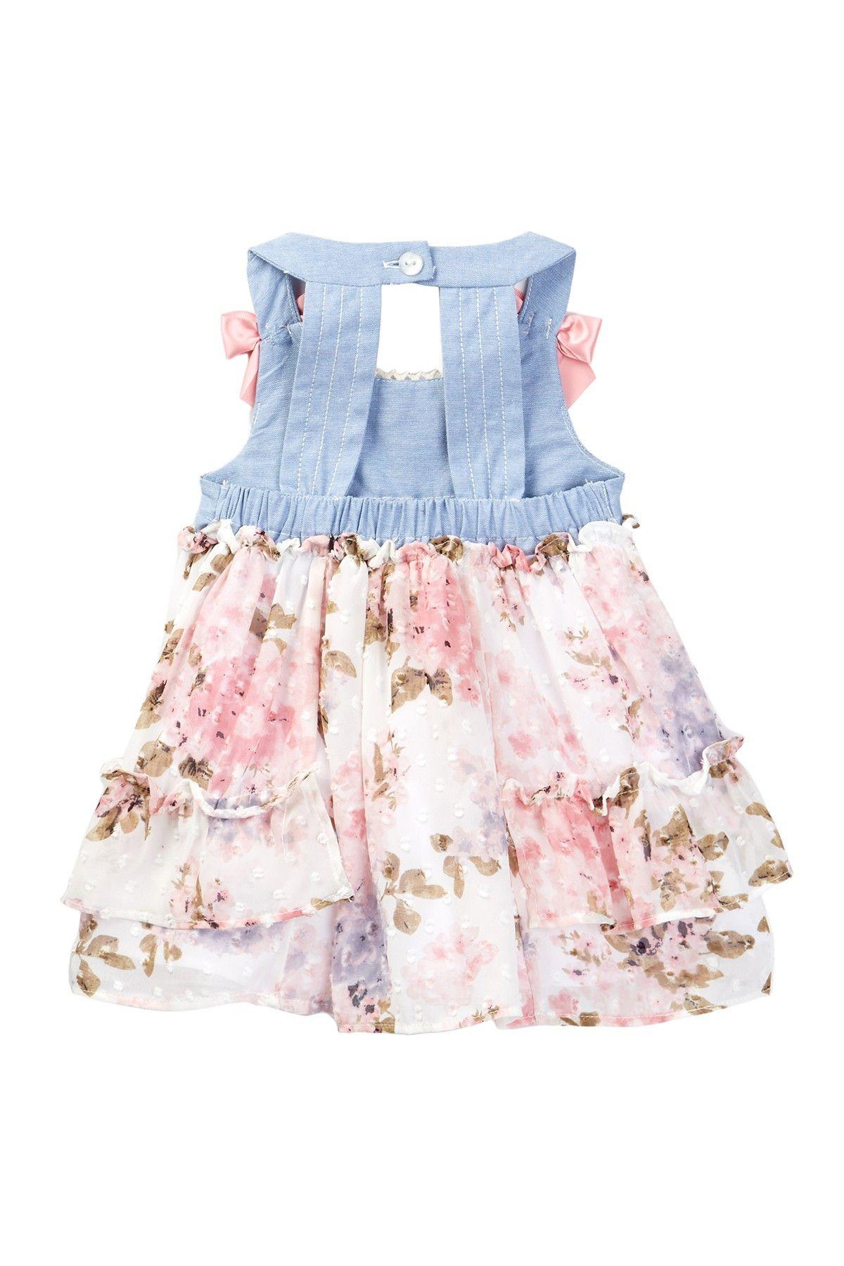 Iris & Ivy Open Chambray Dress & Bloomer Set Baby Girls at