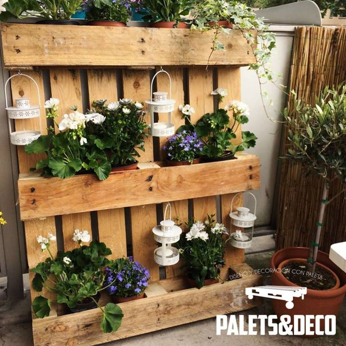 Floreros y maceteros de palets deco brico pinterest - Maceteros para balcones ...