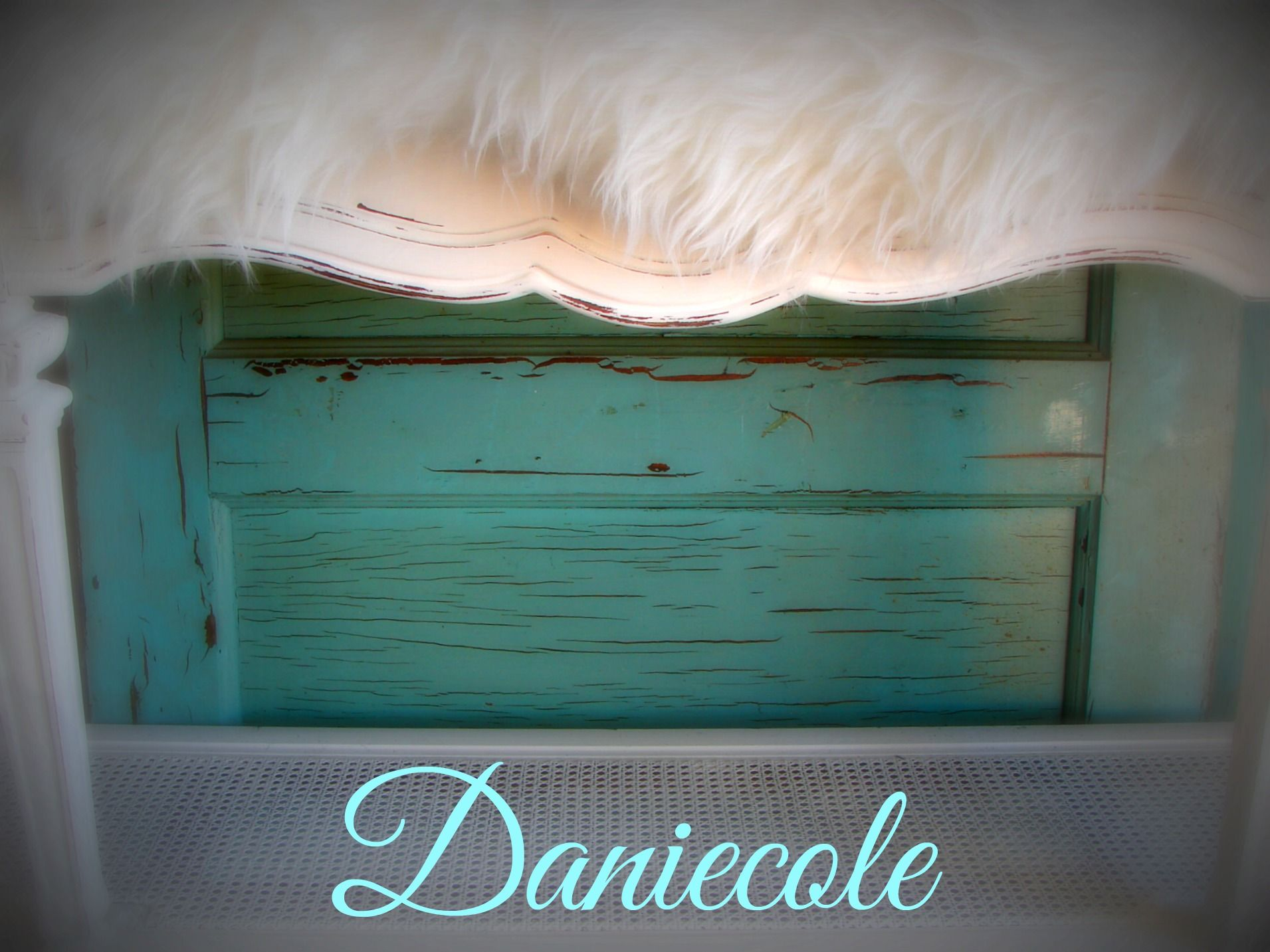 Antique Salvaged barn wood doors & shabby chic white console table by Daniecole