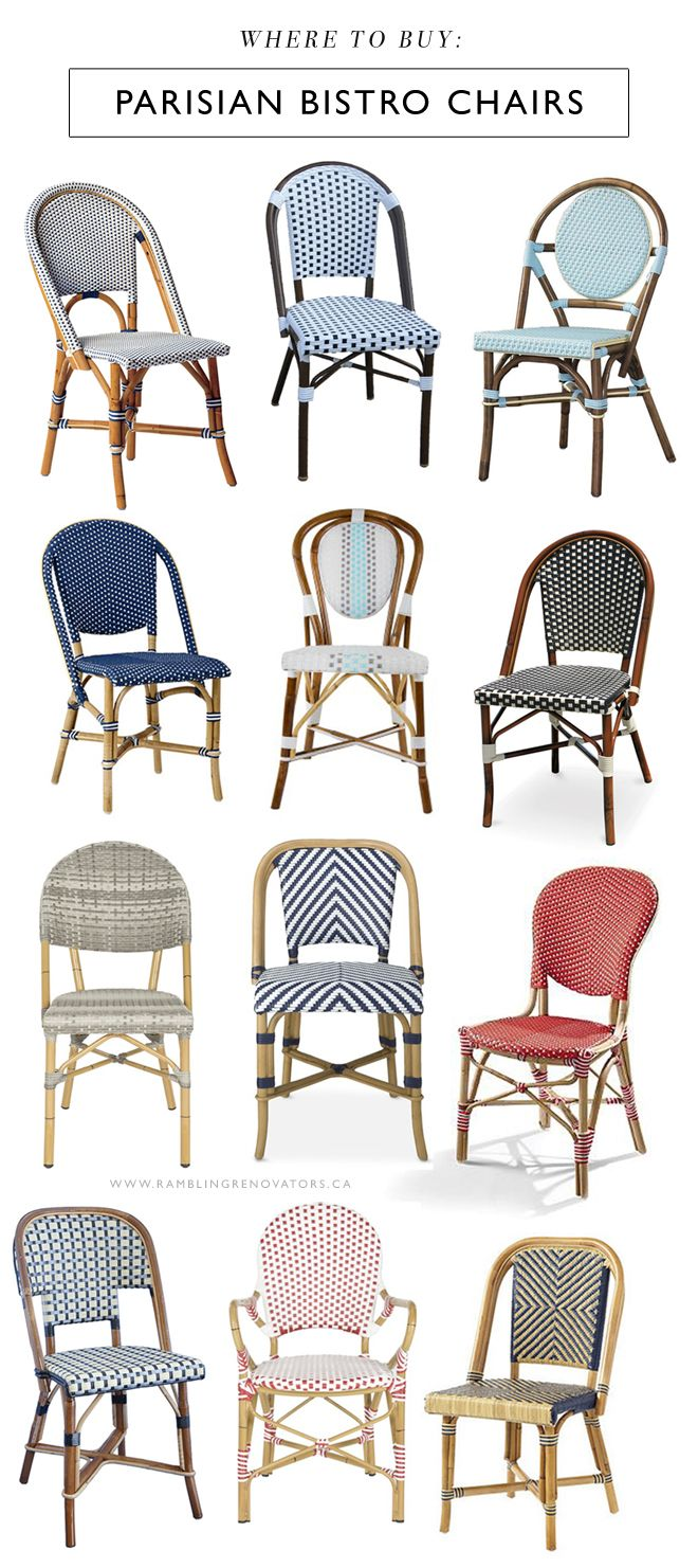 french rattan bistro chairs posture chair pillow where to buy parisian rambling renovators london the ones you see lining dreamy cafes have long been on my list of must items i don t room for them in our house
