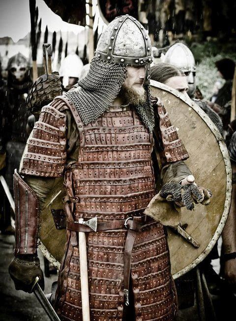 Viking Warrior With Leather Lamellar Armour Viking Armor Viking Warrior Medieval Armor