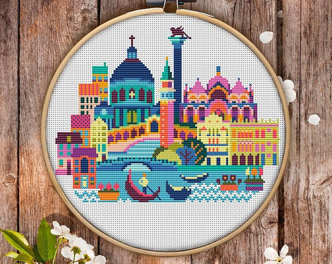 Venice Cross Stitch Pattern For Instant Download 148 Easy Cross
