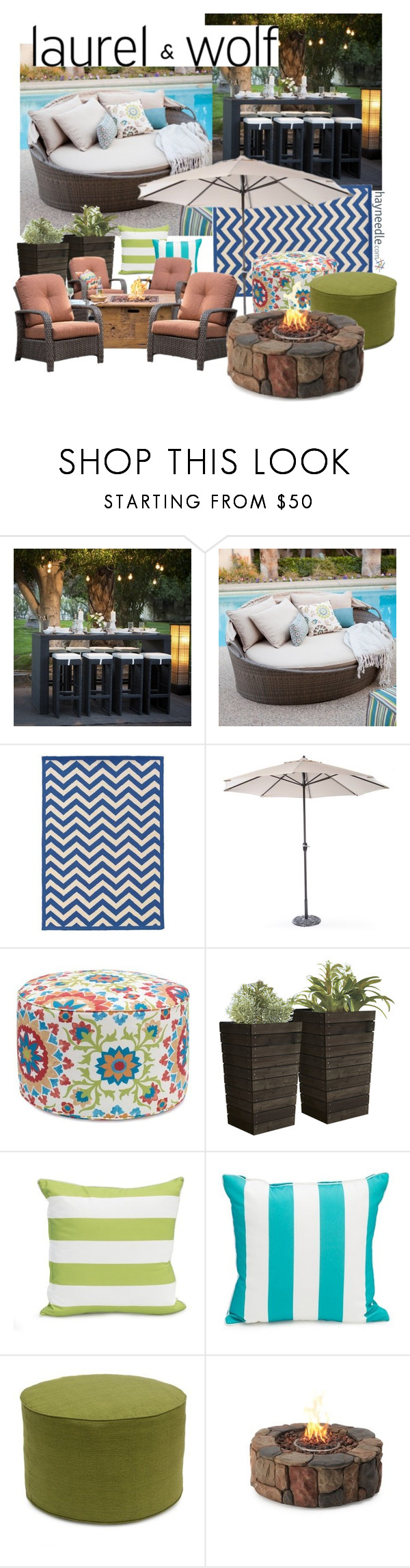 """Dream Outdoor Space"" by bisma-naeem ❤ liked on Polyvore featuring interior, interiors, interior design, home, home decor, interior decorating, Linon, contestentry and dreamoutdoorspacewithhayneedle"