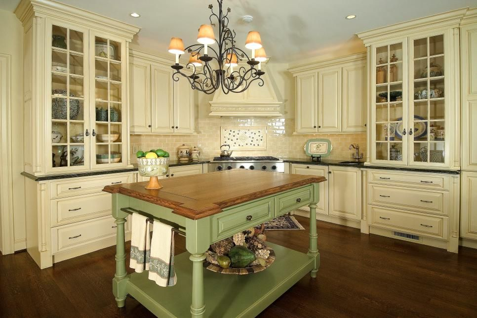 Farmhouse French Country Cream Kitchen Cabinets Wowhomy