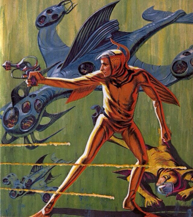 Jack Gaughan - Home From The Shore, 1963. No idea if that's its' real name. Looks like G-Force fanart to me.