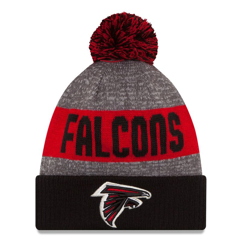 Atlanta Falcons New Era Sideline Official Sport Knit Hat - Heather Gray