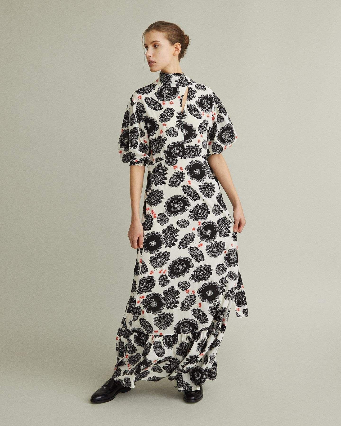 Rodebjer Meadow Poppy Print Maxi Dress Maxi Dress Maxi Dress With Sleeves Printed Maxi Dress [ 1800 x 1440 Pixel ]
