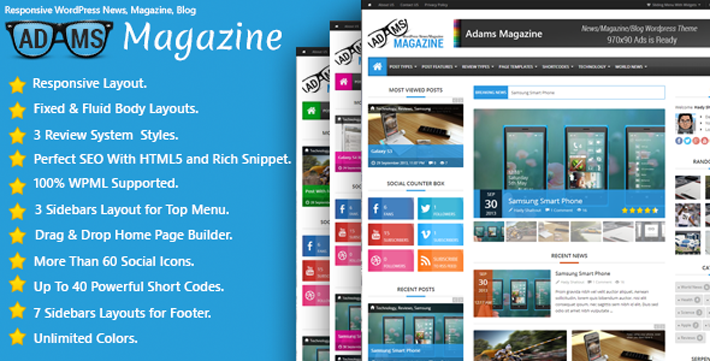15 Fresh News, Magazine and Blog WordPress Themes   Beautiful ...