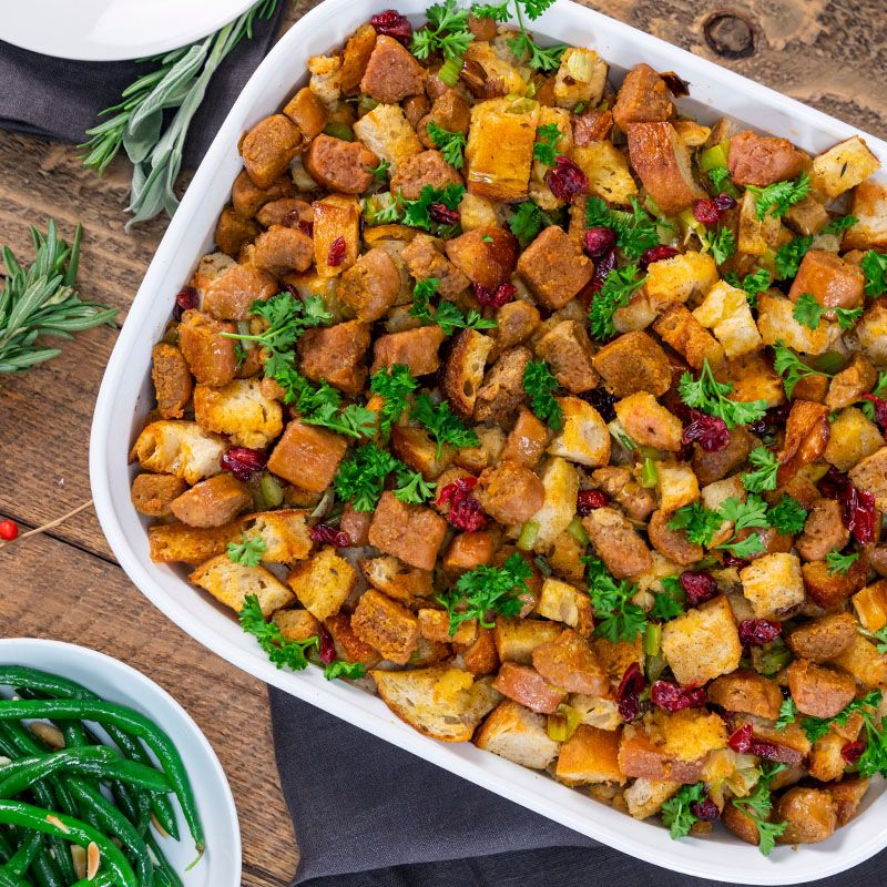 Beyond Sausage Stuffing Beyond Meat The Future Of Protein Vegetarian Recipes Recipes Favorite Comfort Food