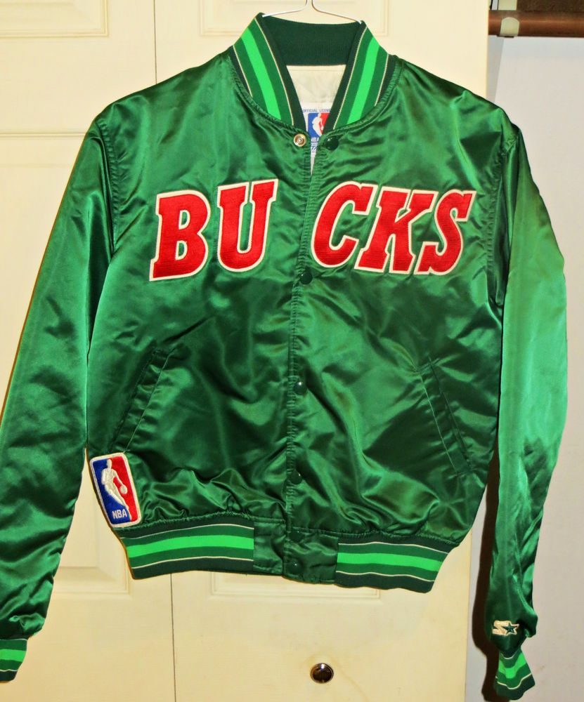 Vintage 80 S MILWAUKEE BUCKS Starter Jacket Satin NBA Medium. Priced to  Sell!  MilwaukeeBucks c68a59f3a