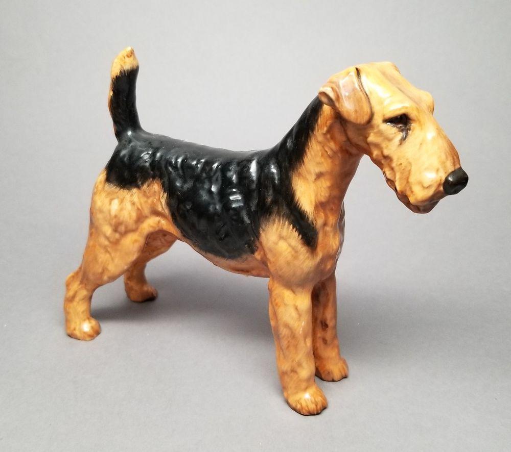 Vintage Royal Doulton Dog Airedale Terrier Hn1023 Medium Designed