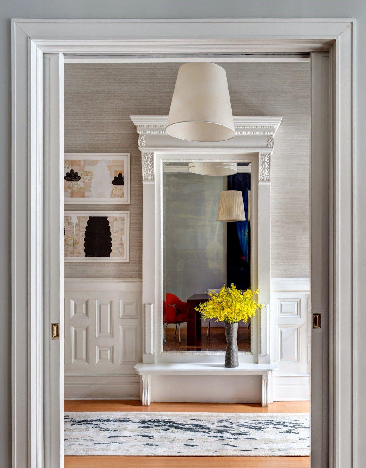 Hallway and stairs wallpaper  Pin by Hanna Lindberg on sisustus  Pinterest  Modern