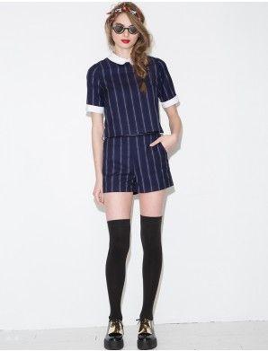 Matching Stripe #Shorts #Set - Cute Stripe Shorts -
