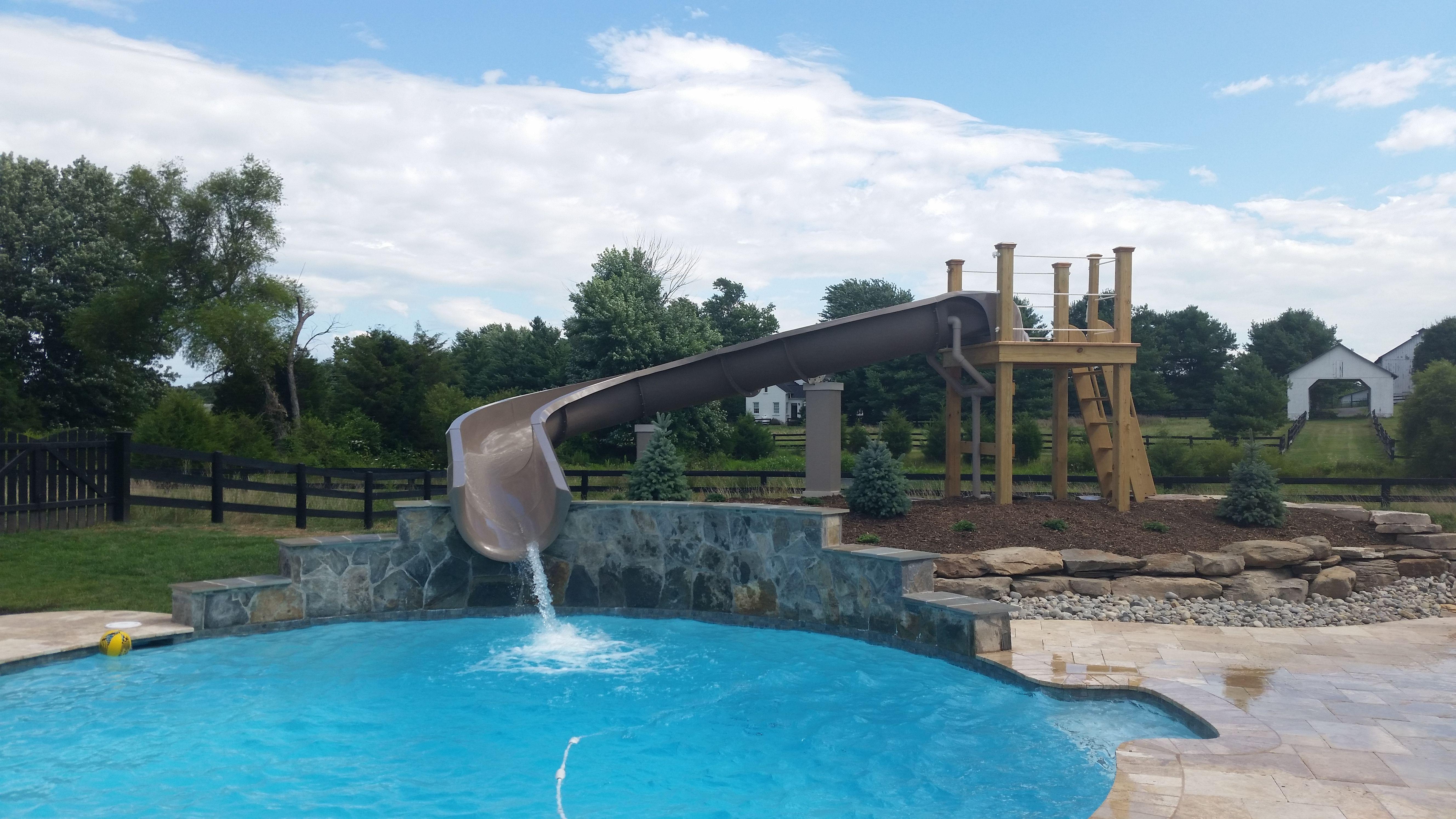 Commercial Grade Fiberglass Water Slides Custom Made For Your Home