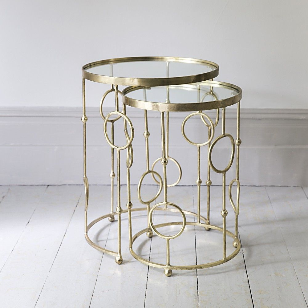Chiswick Glass Top Nesting Side Tables | Deco | Pinterest | Nest, Glass And  Antique Brass