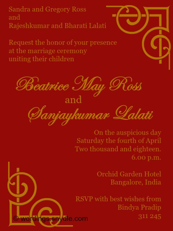 Share This On Whatsindian Wedding Invitation Wordings Invitations Whether Formal Or Informal Bring Much Joy To Family And Friends