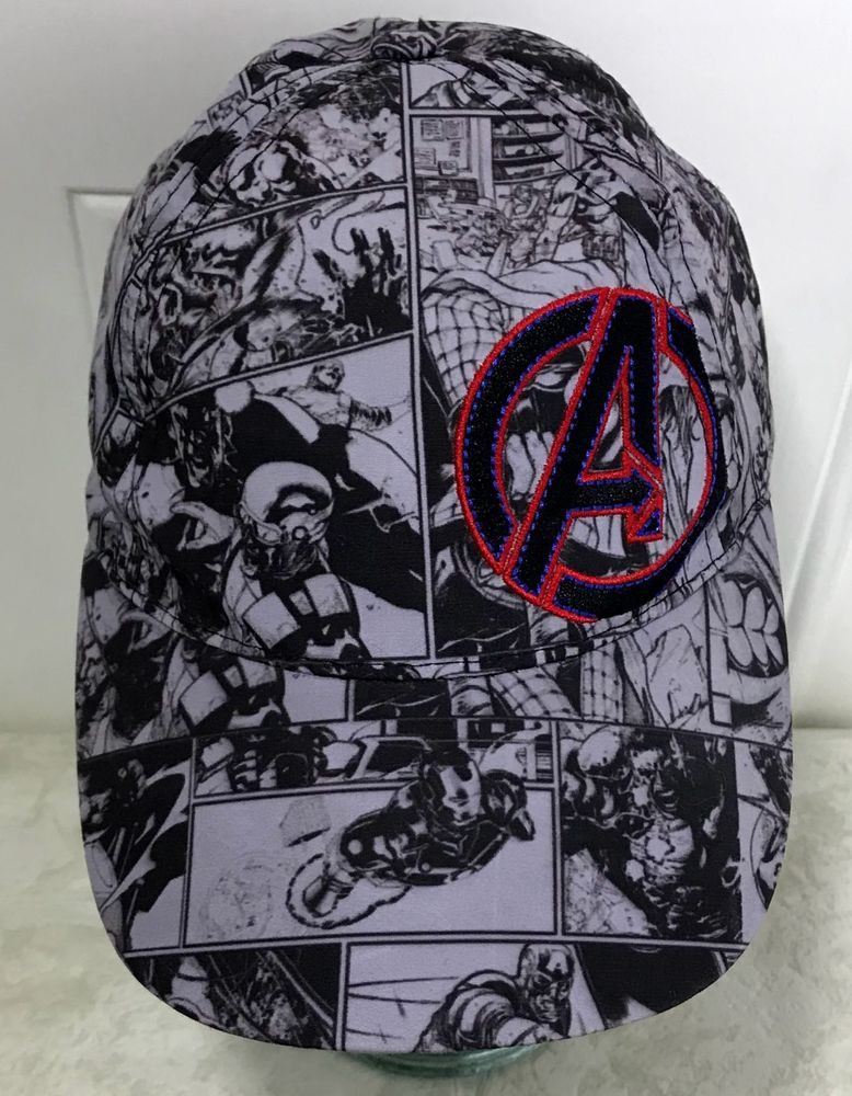 688c8902d77 Marvel Avengers Youth Hat Comic Strip Snapback Hat 2014 Series ...