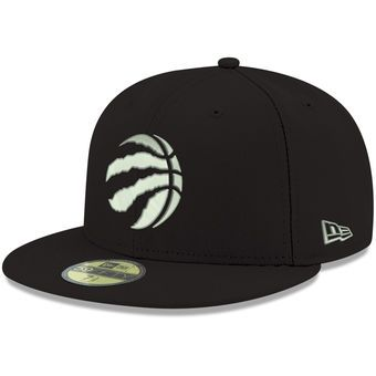 Men s Toronto Raptors New Era Black Official Team Color 59FIFTY Fitted Hat b4008778cf9