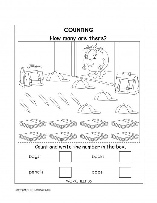 Kindergarten number worksheets – Counting Worksheet