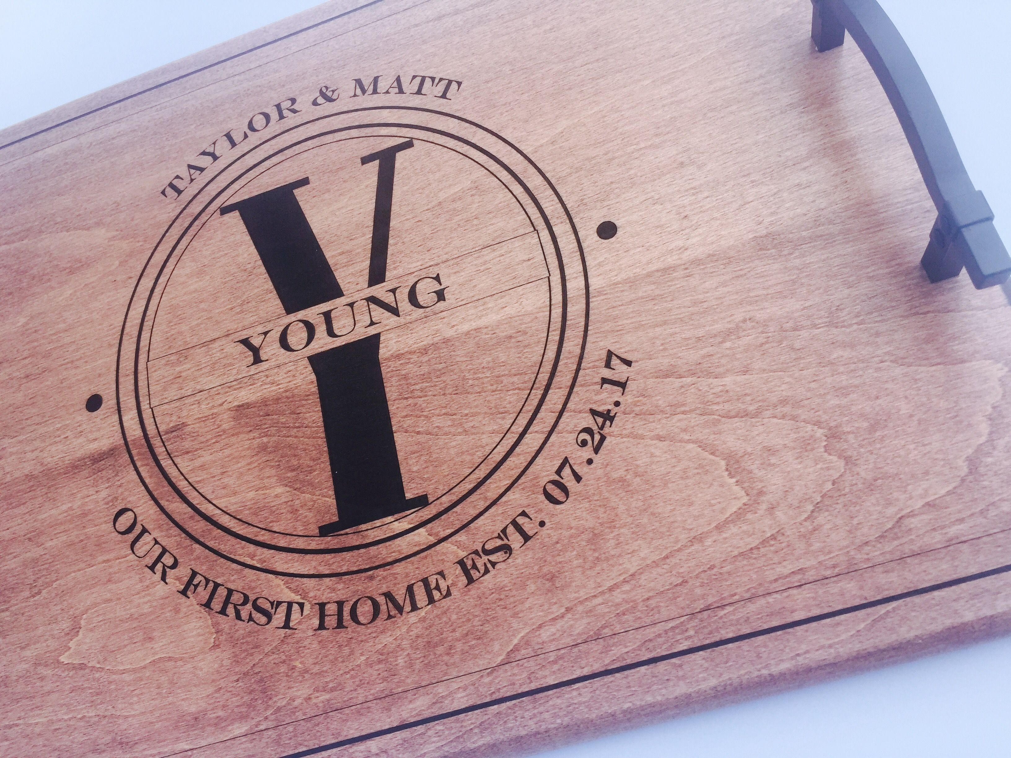 Personalized Serving Tray, First Home Gift, Closing Gift ...