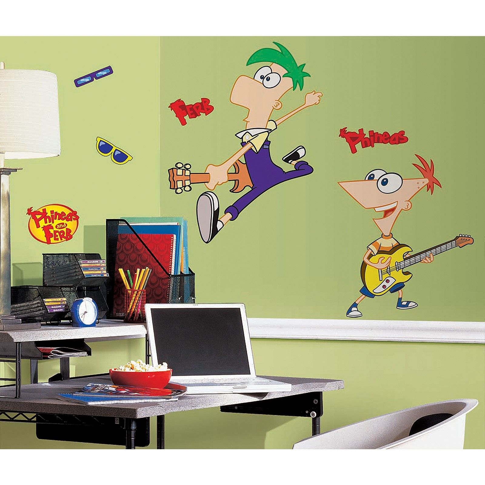 Disney Phineas and Ferb Giant Wall Decal, 75517 | Dominic stuff ...