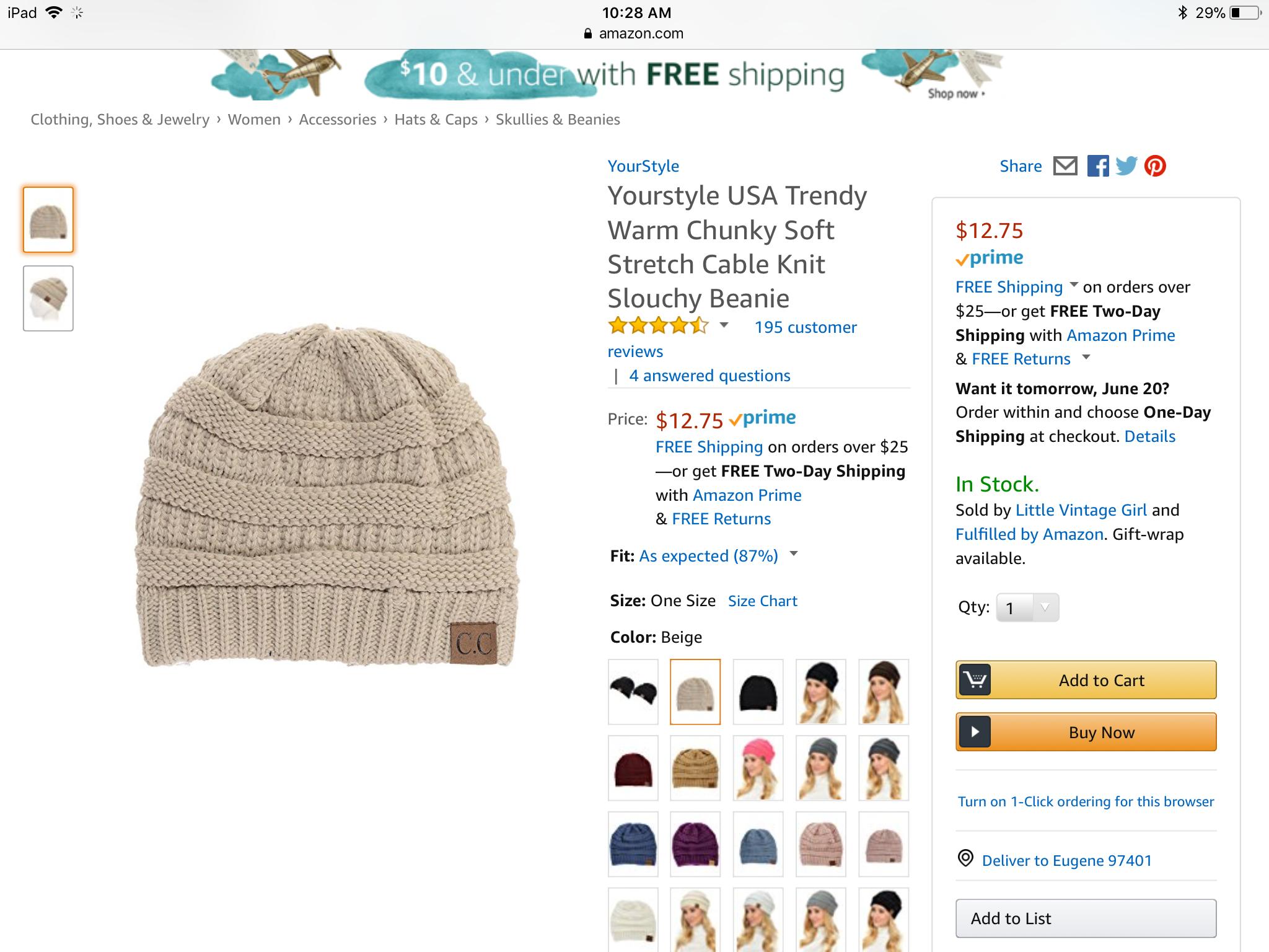 1d06a1d413d0b Cc Beanie Hat Amazon