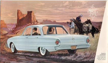 1960 Ford Falcon 4 Door Sedan Ad Ford Falcon Car Illustration Ford Pickup Trucks