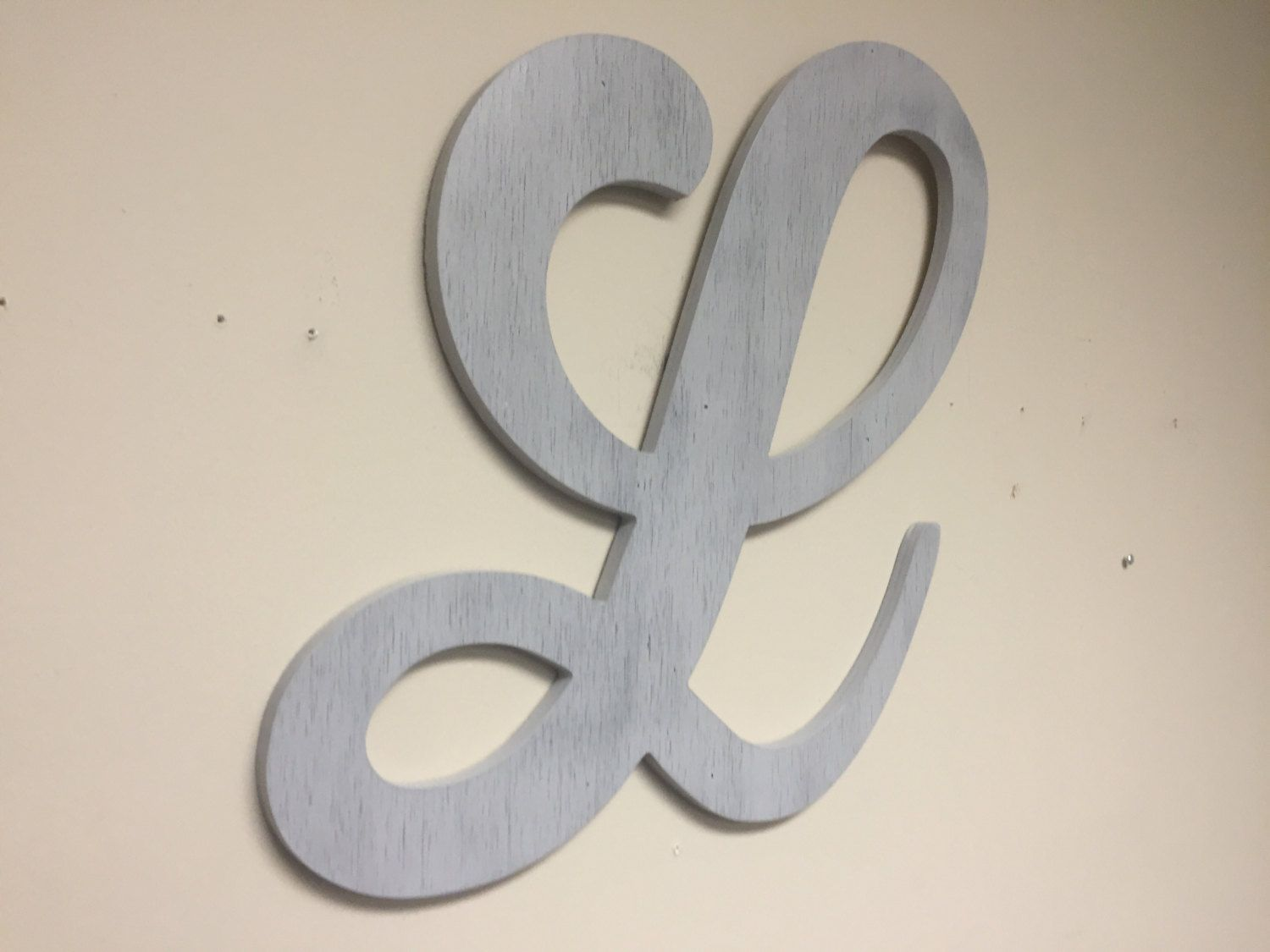 Monogram Letter L Distressed Gray Large Letter Decor