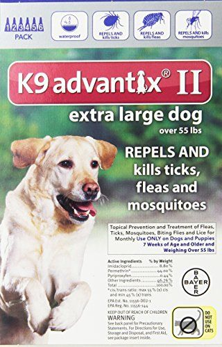 Bayer Advantix Ii Extra Large Dogs Over 55 Pound 6 Month Bayer Advantix Ii Extra Large Dogs Over 55 Pound 6 Mont Fleas Tick Control For Dogs Large Dogs