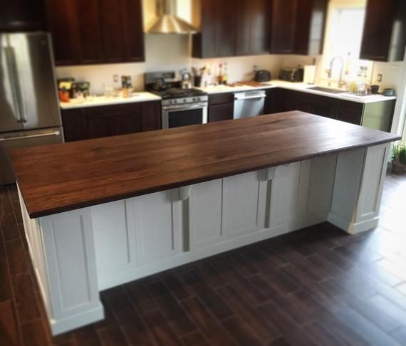 Black Walnut Kitchen Island Top Counter Top Wood Counter Hardwood In 2021 Custom Kitchen Island Walnut Kitchen Kitchen Island With Seating