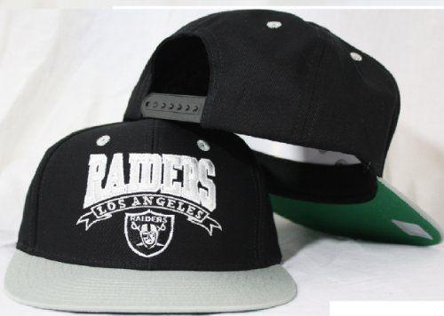 88c854046edb44 Los Angeles Raiders Snapback Black / Silver Two Tone Adjustable Plastic  Snap Back Hat / Cap