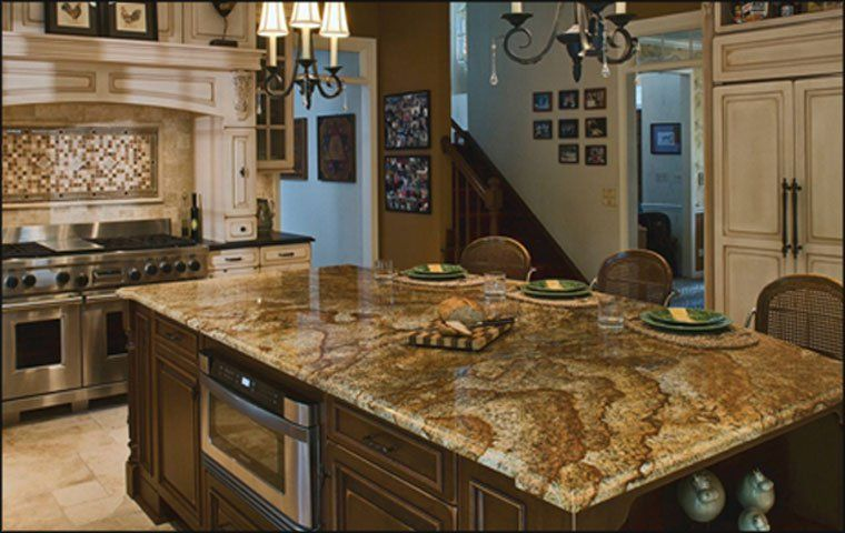 47 Beautiful Granite Countertops [Pictures] | Granite countertops kitchen,  Outdoor kitchen countertops, Granite kitchen