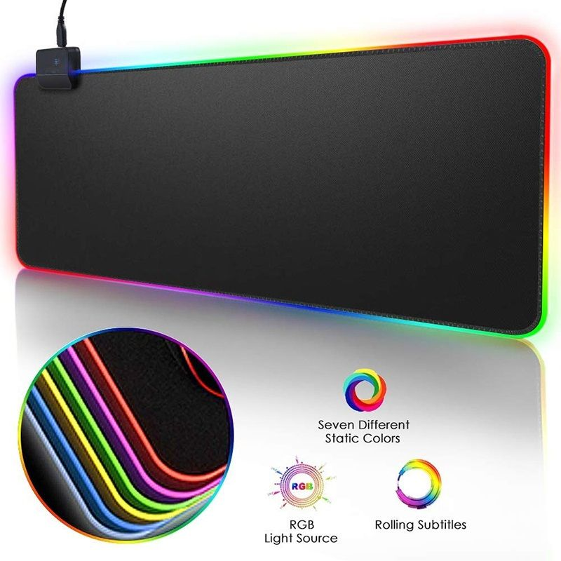 Rgb Gaming Mouse Pad Large Mouse Pad Gamer Led Computer Mousepad Big Mouse Mat With Backlight Carpet For Keyboard Desk Mat Mouse Pad Gaming Mouse Keyboard Pad