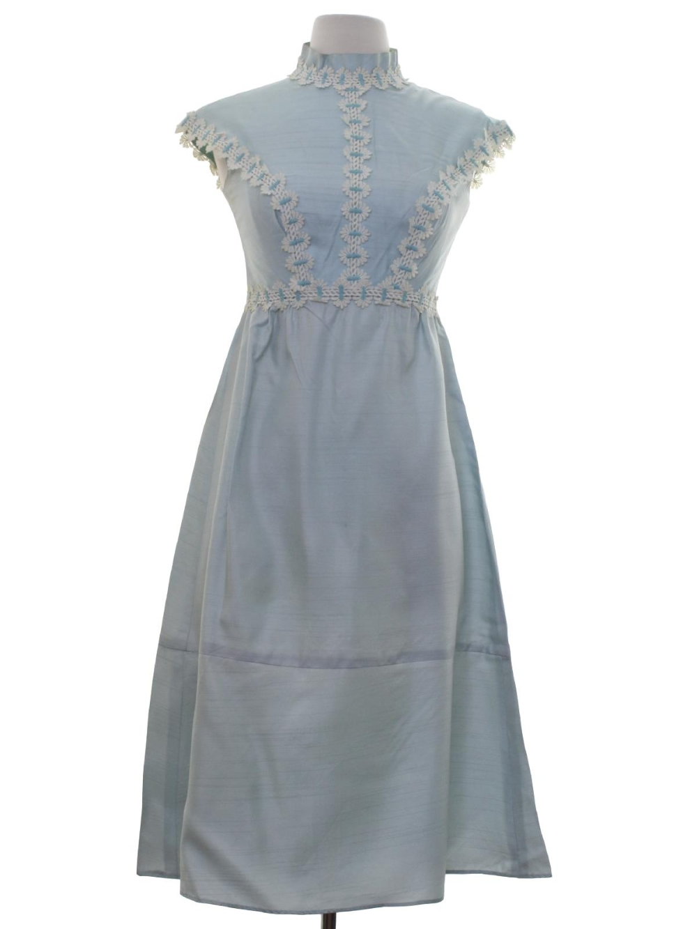 Retro 60s Cocktail Dress 60s No Label Petite Womens Or Girls Ice Blue Blended Cotton Shantung Dress That Has A 60s Cocktail Dress Vintage Outfits Clothes [ 1333 x 1000 Pixel ]