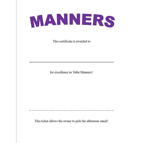 Table Manners: These preschool activities are focused on teaching ...