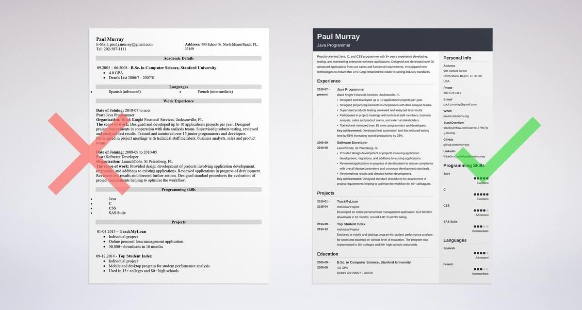 programmer resume samples resume Pinterest Computer