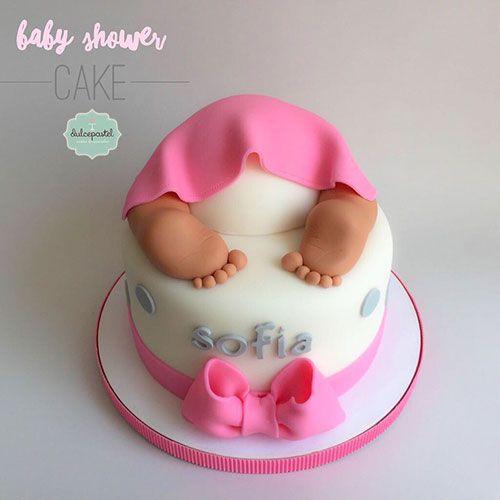 Torta baby shower para ni a en medell n por dulcepastel - Baby shower de nina ...